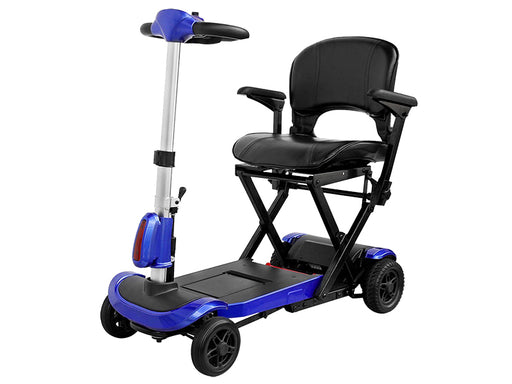 Drive Medical ZooMe Auto-Flex 4-Wheel Folding Mobility Scooter left angle view