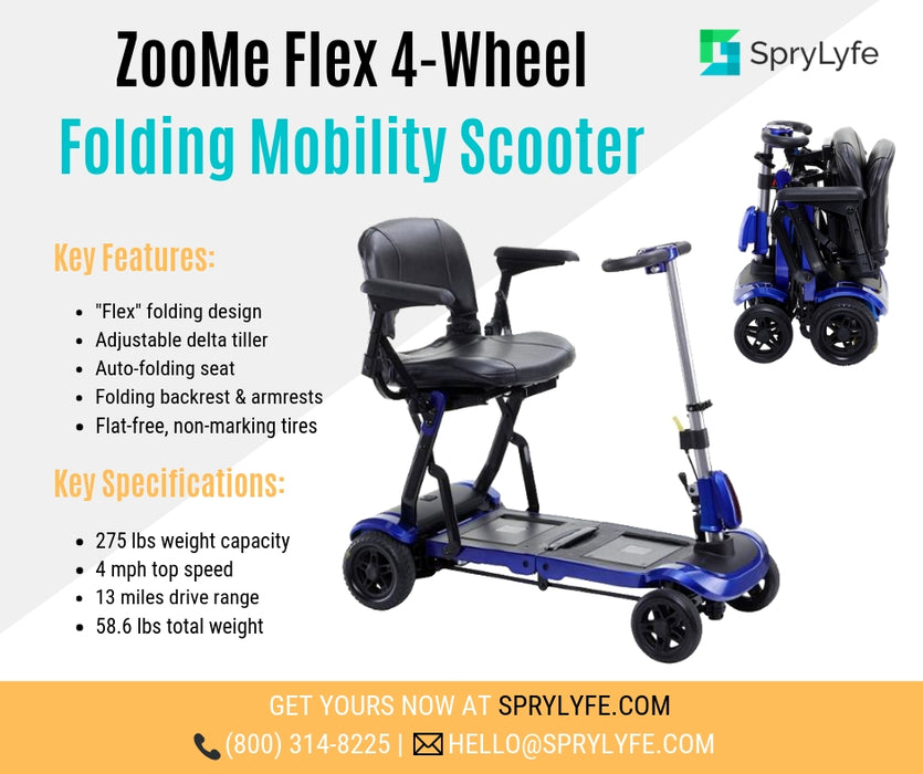 Drive Medical ZooMe Flex 4-Wheel Folding Mobility Scooter brochure