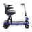 Drive Medical ZooMe Flex 4-Wheel Folding Mobility Scooter blue right side view