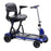 Drive Medical ZooMe Flex 4-Wheel Folding Mobility Scooter blue right angle view