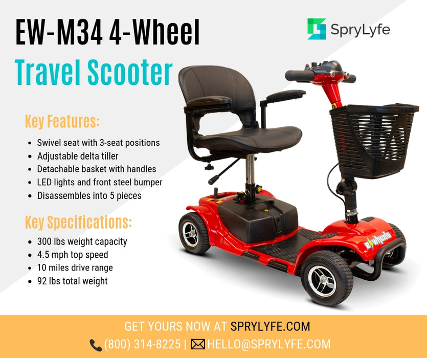 EWheels EW M34 4-Wheel 4-Wheel Travel Scooter brochure