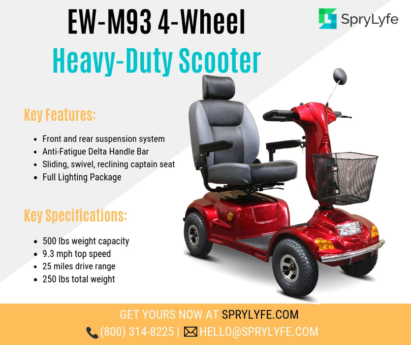 EW M93 4-Wheel Heavy-Duty Mobility Scooter brochure
