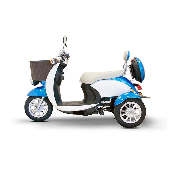 EWheels EW 11 Euro 3-Wheel Recreational Scooter blue left side view