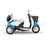 EWheels EW 11 Euro 3-Wheel Recreational Scooter blue right side view