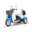 EWheels EW 11 Euro 3-Wheel Recreational Scooter blue left angle view