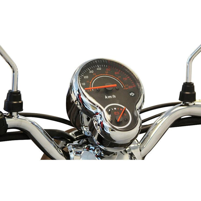 EWheels EW 11 Euro 3-Wheel Recreational Scooter dashboard and handlebar