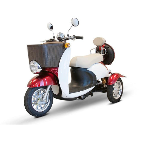 EWheels EW 11 Euro 3-Wheel Recreational Scooter red left angle view
