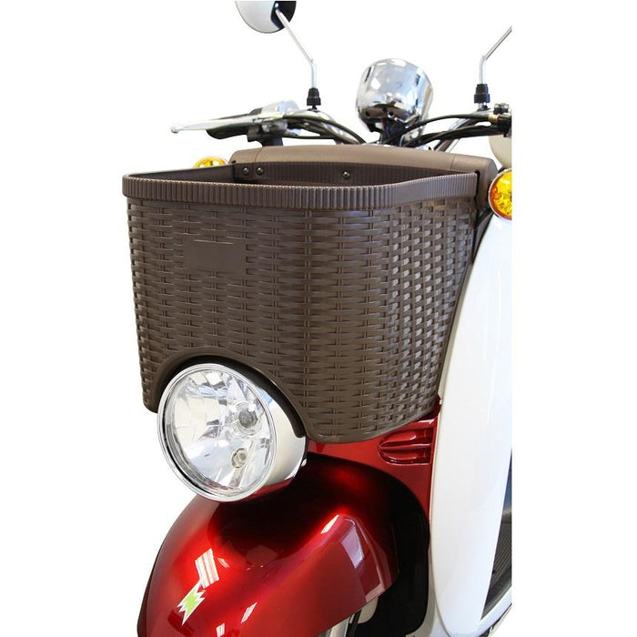EWheels EW 11 Euro 3-Wheel Recreational Scooter headlight and front basket