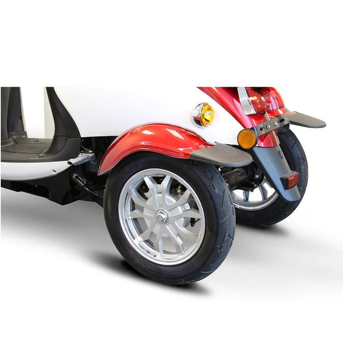 EWheels EW 11 Euro 3-Wheel Recreational Scooter red rear wheels and tail lights