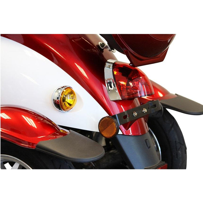 EWheels EW 11 Euro 3-Wheel Recreational Scooter red tail lights