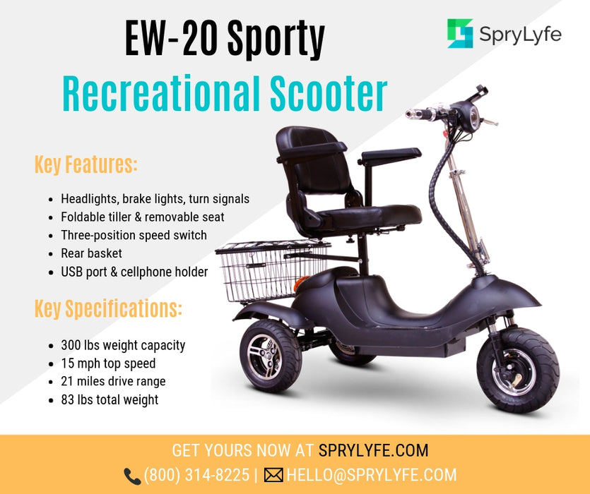 EWheels EW 20 Sporty 3-Wheel Recreational Scooter brochure