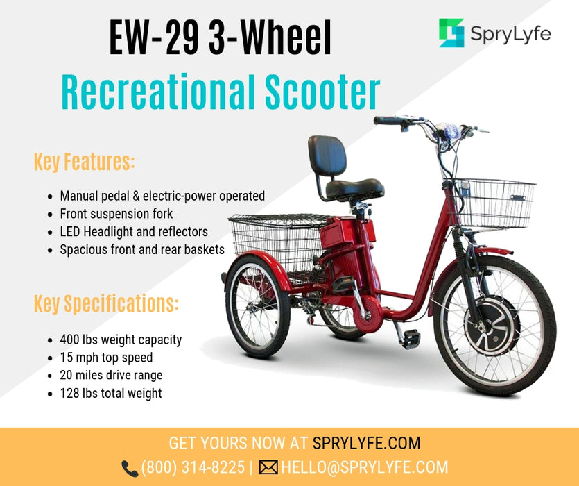 EWheels EW 29 3-Wheel Recreational Scooter brochure