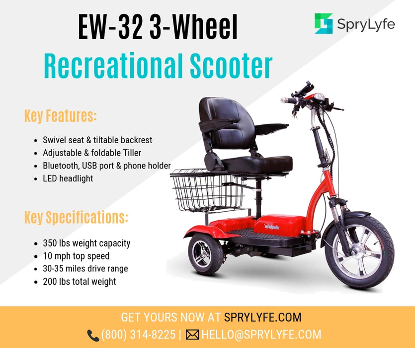 EWheels EW 32 3-Wheel Recreational Scooter brochure
