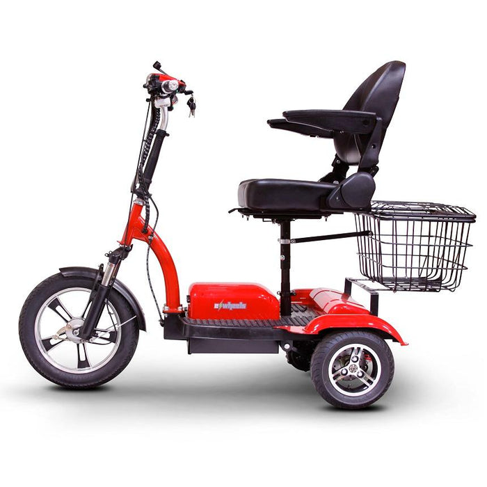 EWheels EW 32 3-Wheel Recreational Scooter red left side view