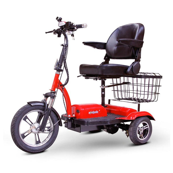 EWheels EW 32 3-Wheel Recreational Scooter red left angle view