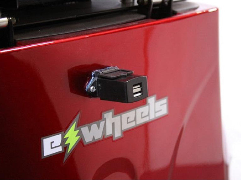 EW 36 3-Wheel Recreational Scooter charging port