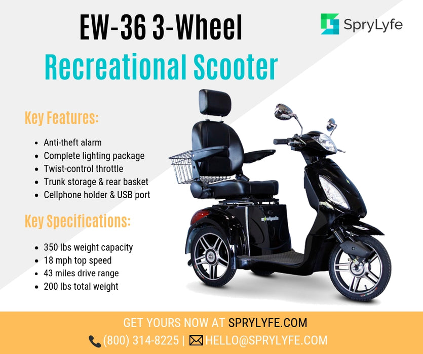EW 36 3-Wheel Recreational Scooter brochure
