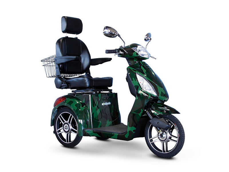 EW 36 3-Wheel Recreational Scooter camouflage black and green