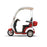 EWheels EW 44 3-Wheel Recreational Scooter with Canopy red left side view