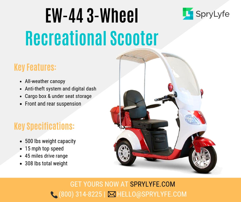 EWheels EW 44 3-Wheel Recreational Scooter with Canopy brochure