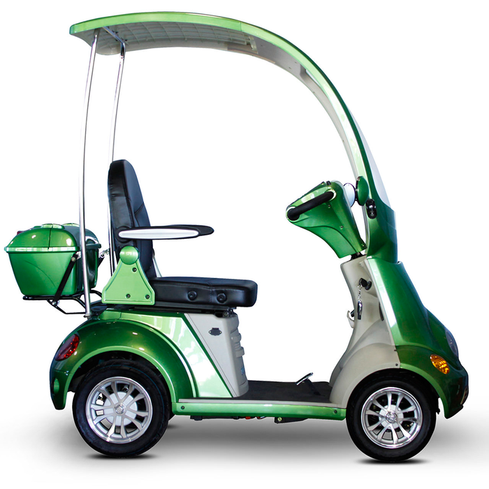 EWheels EW 54 Coupe 4-Wheel Recreational Scooter with Canopy green right side view