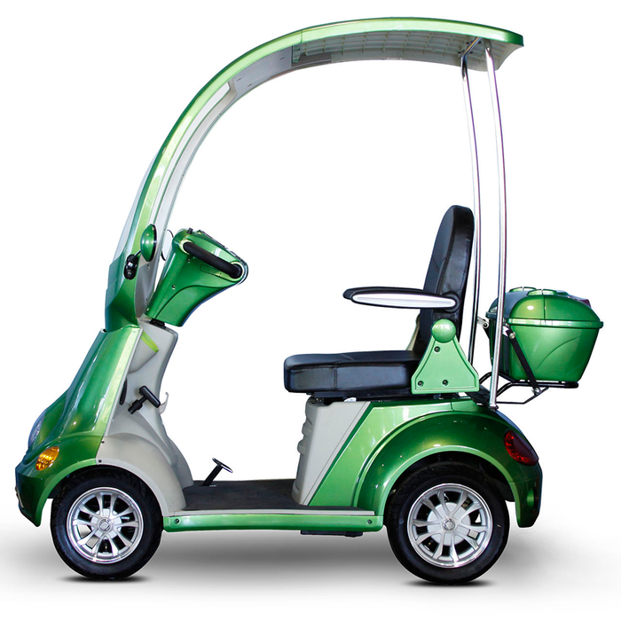 EWheels EW 54 Coupe 4-Wheel Recreational Scooter with Canopy green left side view