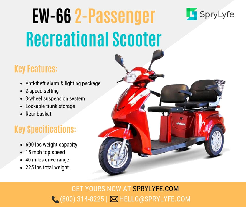 EWheels EW 66 2-Passenger Recreational Scooter brochure