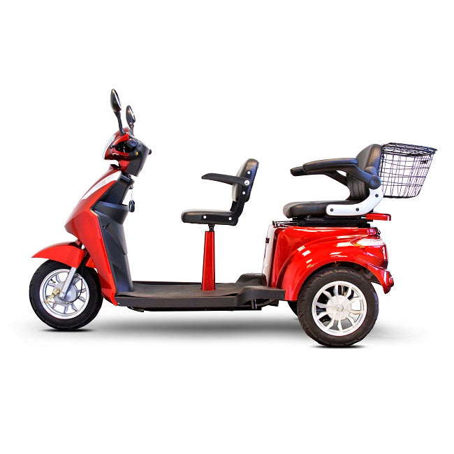 EWheels EW 66 2-Passenger Recreational Scooter red left side view