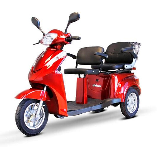 EWheels EW 66 2-Passenger Recreational Scooter red left angle view