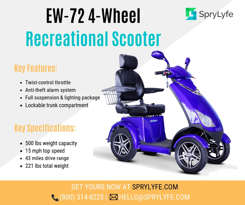 EWheels EW 72 4-wheel recreational scooter brochure