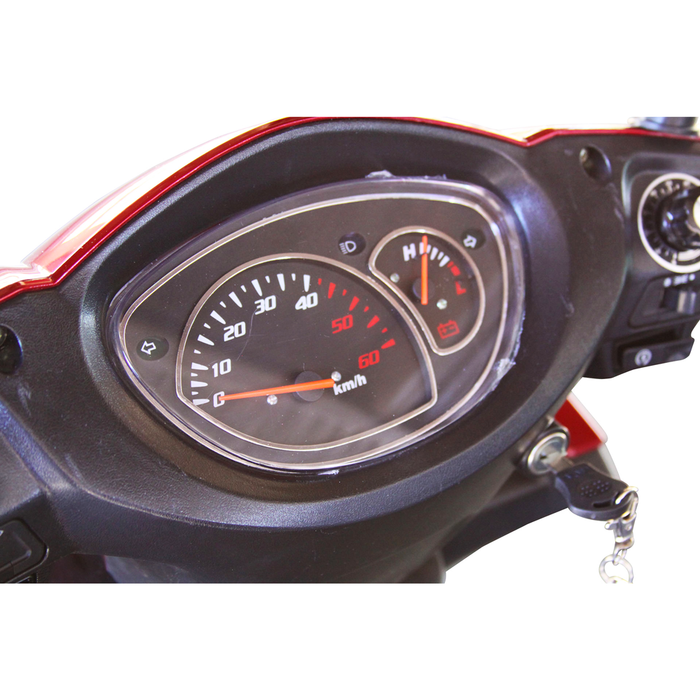 EWheels EW 72 4-wheel recreational scooter dashboard