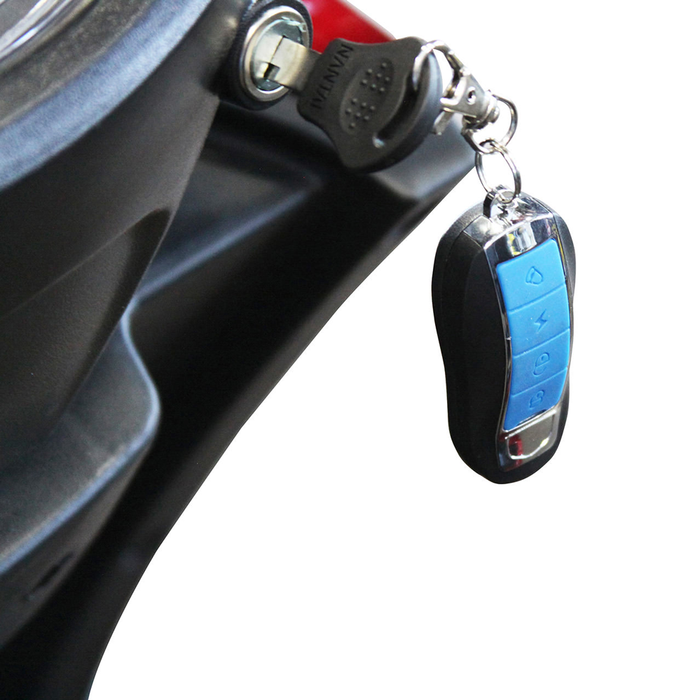 EWheels EW 72 4-wheel recreational scooter key fob and ignition switch