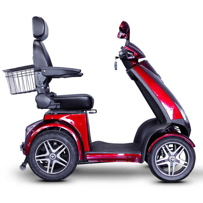 EWheels EW 72 4-wheel recreational scooter red right side view