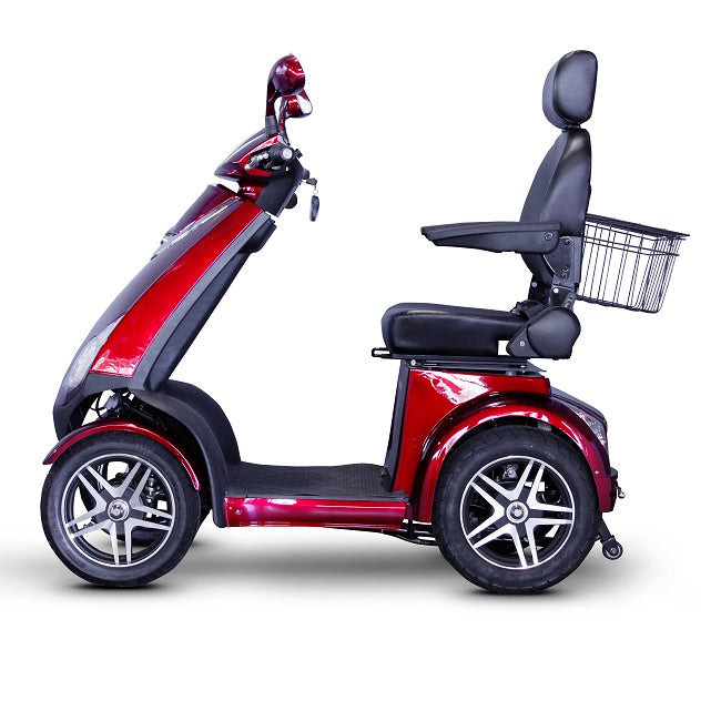 EWheels EW 72 4-wheel recreational scooter red left side view