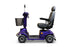 EWheels EW M91 4-Wheel Mobility Scooter blue left sideview