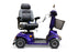 EWheels EW M91 4-Wheel Mobility Scooter blue swivel seat and adjustable tiller angle