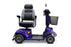 EWheels EW M91 4-Wheel Mobility Scooter blue swivel seat