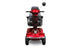 EWheels EW M91 4-Wheel Mobility Scooter red front view