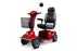 EWheels EW M91 4-Wheel Mobility Scooter red left angle view