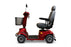 EWheels EW M91 4-Wheel Mobility Scooter red left sideview