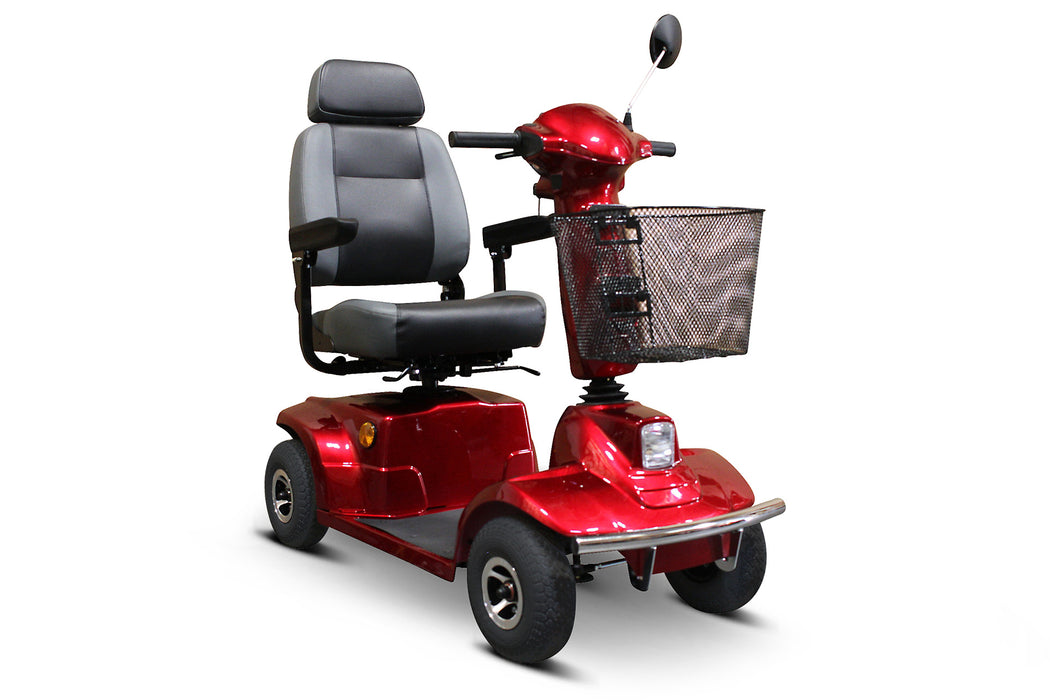 EWheels EW M91 4-Wheel Mobility Scooter red right angle view