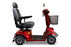 EWheels EW M91 4-Wheel Mobility Scooter red right sideview