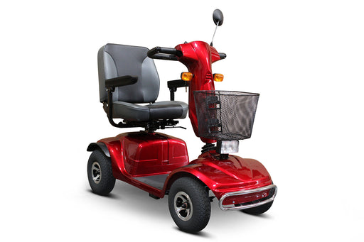 EWheels EW M92 4-Wheel Mobility Scooter red right angle view