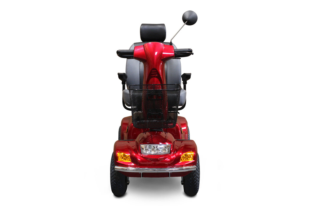 EW M93 4-Wheel Heavy-Duty Mobility Scooter red front view