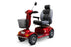 EW M93 4-Wheel Heavy-Duty Mobility Scooter red left angle view