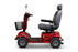 EW M93 4-Wheel Heavy-Duty Mobility Scooter red left side view
