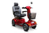 EW M93 4-Wheel Heavy-Duty Mobility Scooter red right angle view