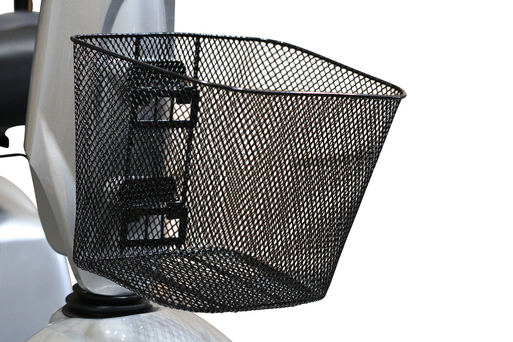 EW M93 4-Wheel Heavy-Duty Mobility Scooter front basket
