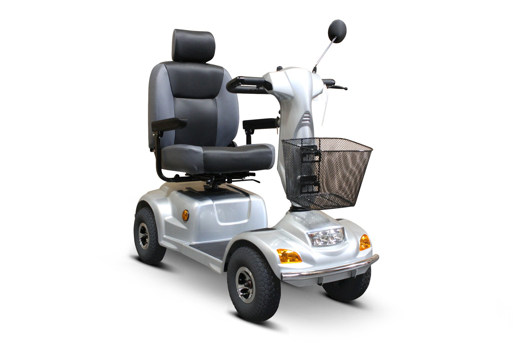 EW M93 4-Wheel Heavy-Duty Mobility Scooter right angle view
