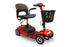 EWheels EW M34 4-Wheel 4-Wheel Travel Scooter red right angle view